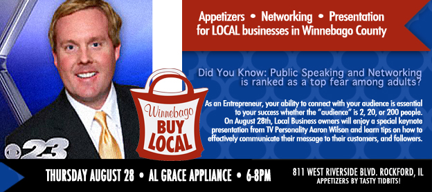 Aaron Wilson to speak at Winnebago Buy Local August 28